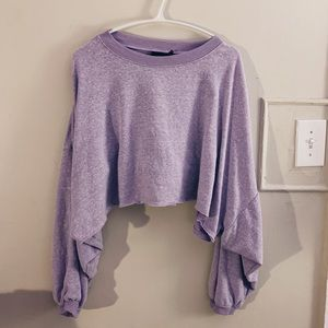 Urban Outfitters Purple Crop Top Sweater